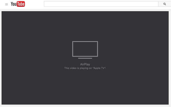 airplay youtube on apple tv
