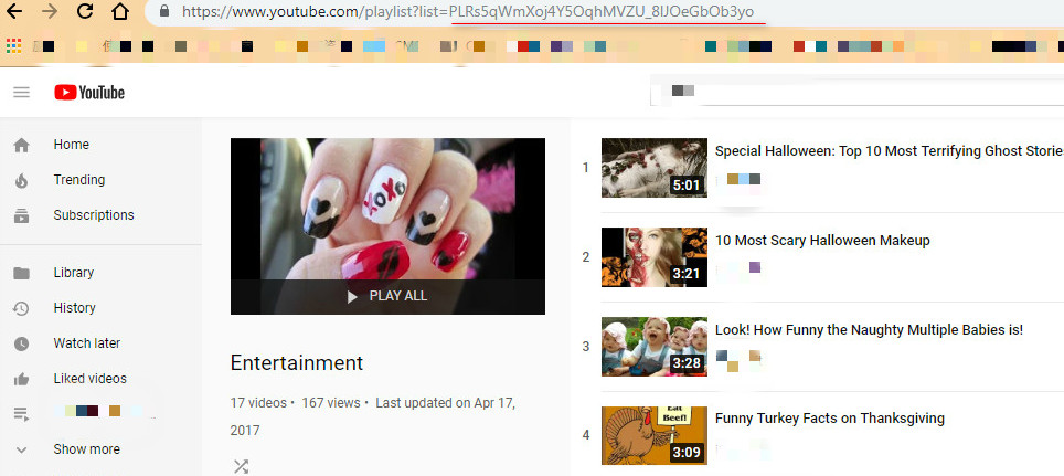 embed youtube playlist