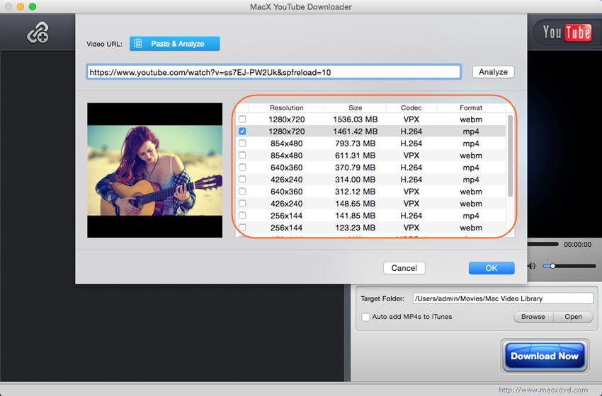 MacX YouTube Downloader for Windows - Paste URL