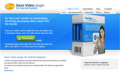 IE YouTube Downloaders - SaveVideo Plugin for IE