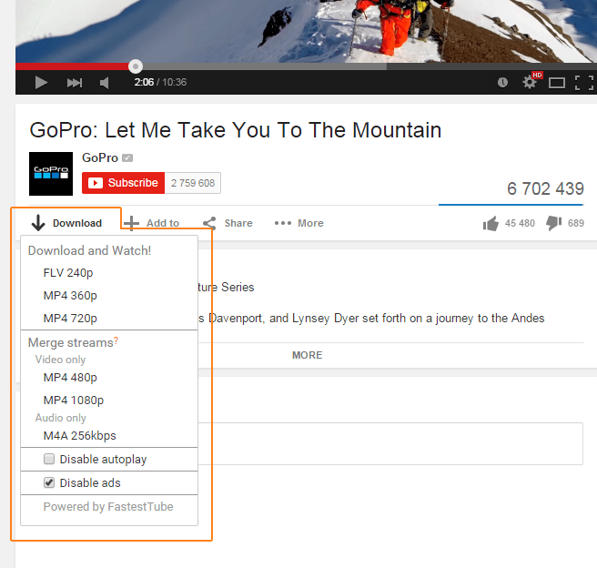 IE YouTube Downloaders - FastestTube