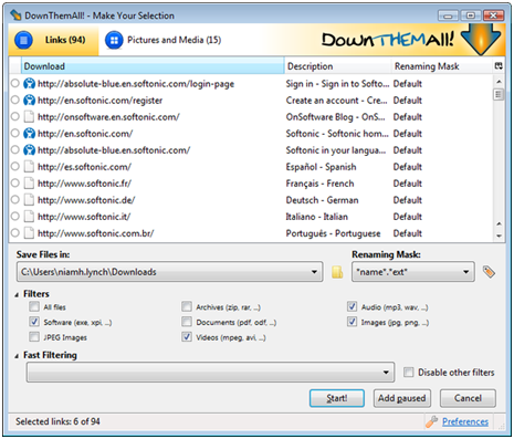 Safe YouTube Downloader - DownloadThemAll
