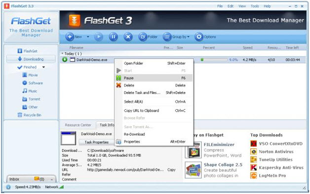 Top 5 free Facebook Video Downloader-Flash Get