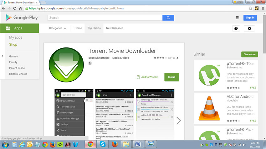 Torrent movie downloader-download and install the app