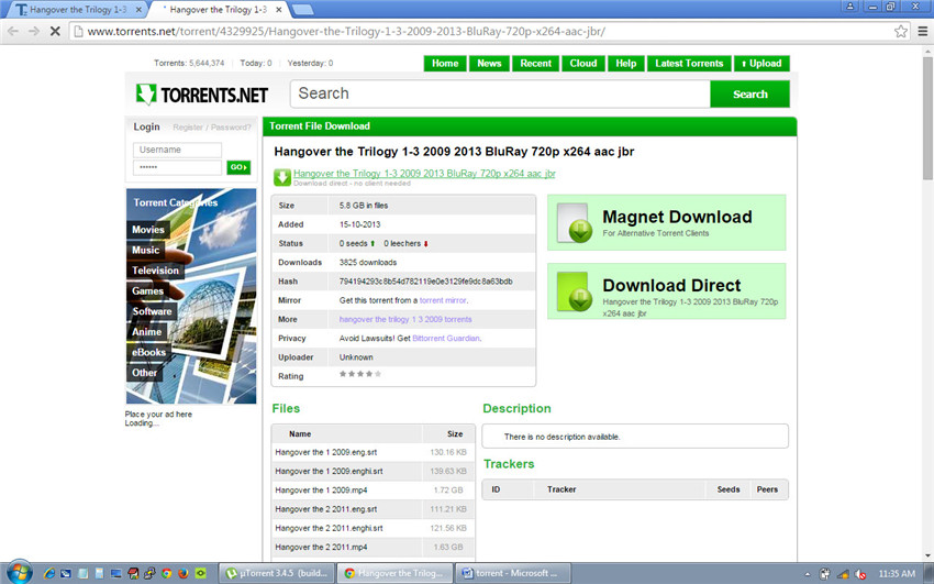 Torrent movie downloader