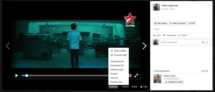 Embed Facebook Video - Find the Embed Option