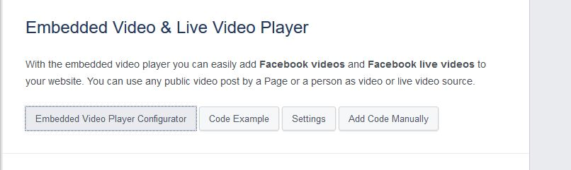 Embed Facebook Video - Click Code Configurator