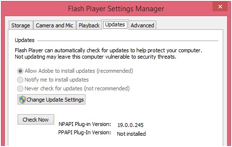 Facebook Videos Playback - Update Flash Player