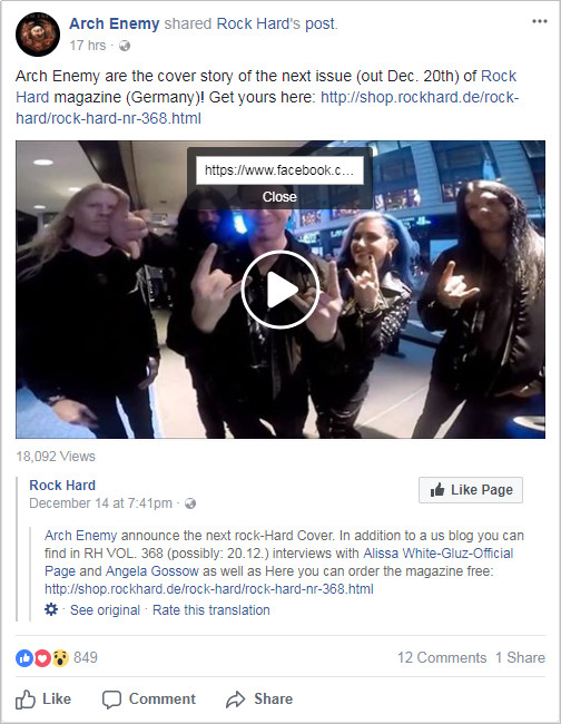 Facebook Videos Playback - Copy Video URL