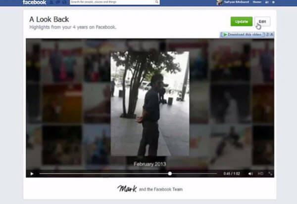 Edit Facebook Video - Go to Lookback Page