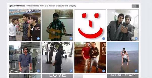 Edit Facebook Video - Select New Photos