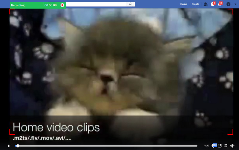 Add Screen Recording Video on Facebook - Record Video