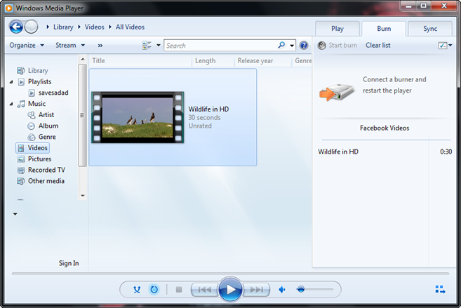 Burn Facebook Videos to DVD - Add Facebook Videos to Burn List