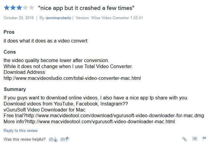 Convert Instagram Videos to MP3 - User Review of Wise Video Converter