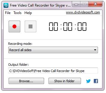 record Skype video - DVDVideoSoft