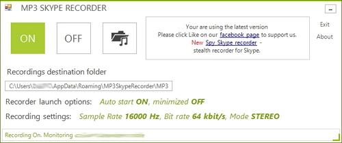Skype call recorder - MP3 Skype Recorder