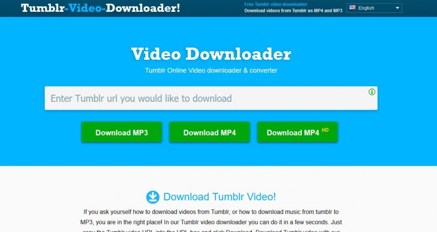 Video Downloader for Tumblr - Tumblr-Video-Downloader