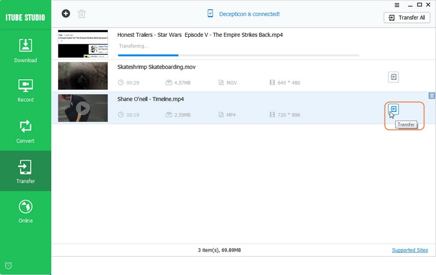 download from vimeo to ipad - Shoot up the Transfer process