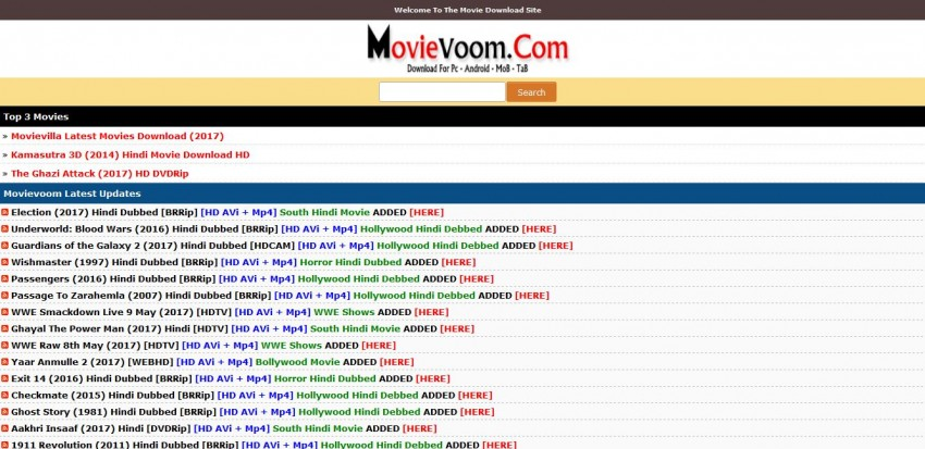 Download Movies in AVI - Movie Voom