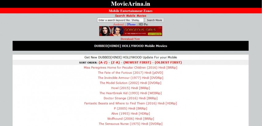 Download Movies in AVI - MoviesArina