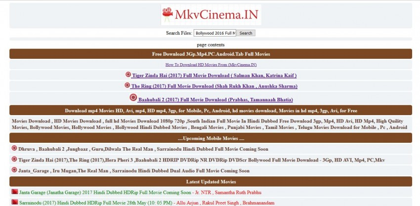 Download Movies in AVI - MKV Cinema