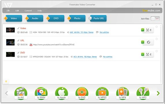YouTube to AVI HD Converter - Freemake Video Converter
