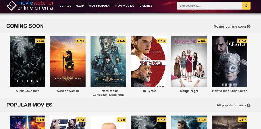 AVI Movie Sites - Movie Watcher