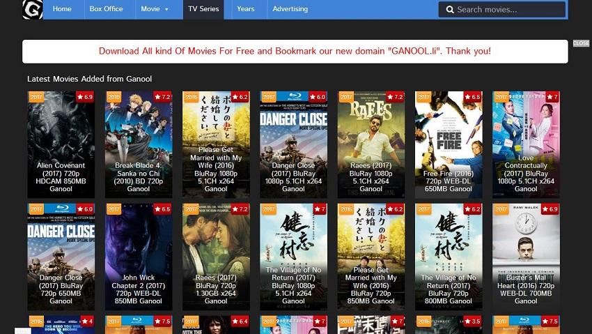 AVI Movie Sites - Ganool