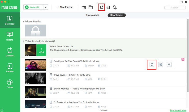 How to Download HD Youtube Videos with iTube HD Video Downloader-Best Video Downloader for Mac-find the add to convert list menu