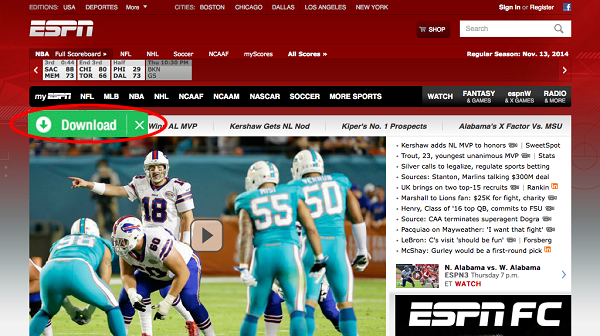 download espn videos in 1 click