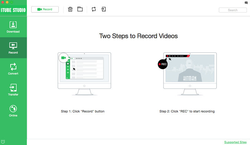 download ABC new videos - recording way step 1