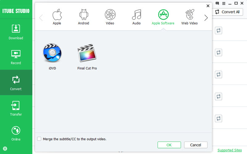 convert video to apple software