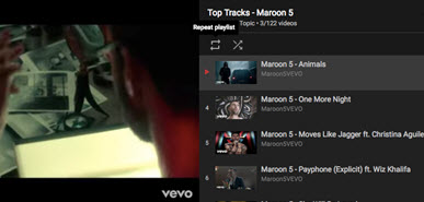 repeat playlist youtube