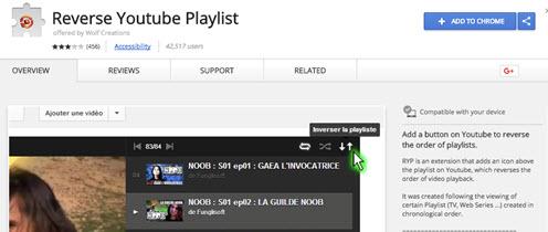 youtube reverse playlist