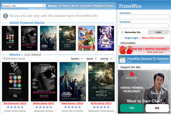 watch free movies online without download