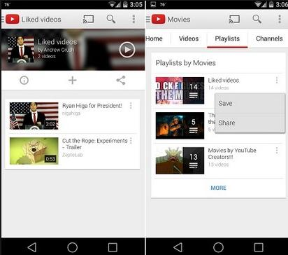 how to share a playlist on youtube
