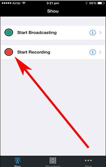 record a youtube video on iphone