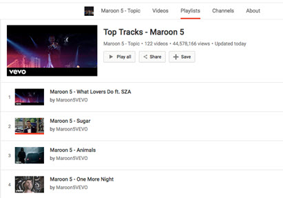 how to shuffle youtube playlist