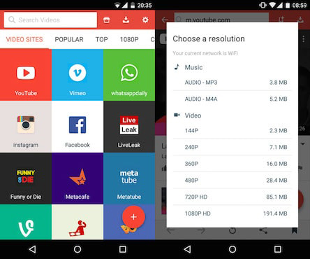youtube video downloader for android mobile free