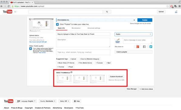 upload imovie videos to youtube