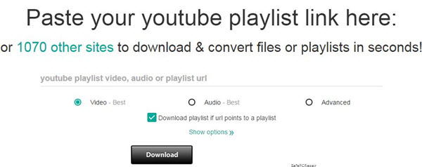 youtube playlist downloader free online
