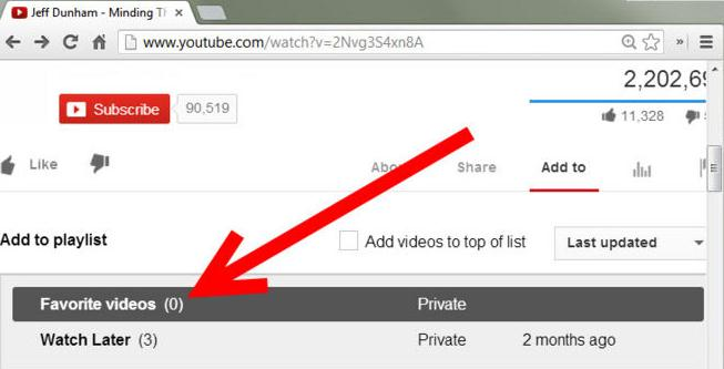youtube add to favorite button not work