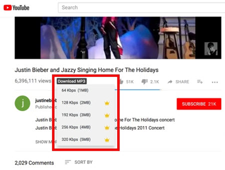 chrome youtube mp3 downloader