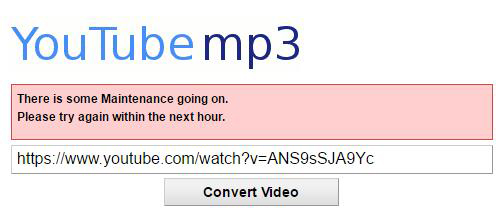 youtube to mp3 not working