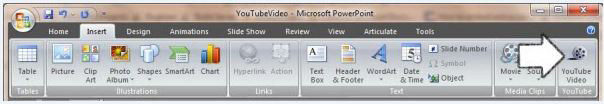 insert youtube video to powerpoint